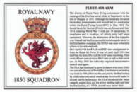 No.1850 Squadron Laminated Card