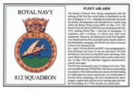 No.812 Squadron Laminated Card
