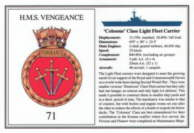 HMS. Vengeance (71) Laminated Card