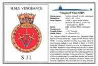 HMS. Vengeance (S31) Laminated Card