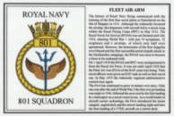 No.801 Squadron Laminated Card