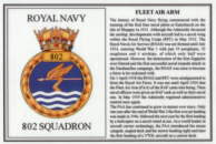 No.802 Squadron Laminated Card