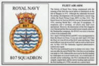 No.807 Squadron Laminated Card