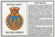 No.809 Squadron Laminated Card