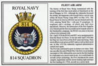 No.814 Squadron Laminated Card