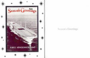 HMS. Vengeance Christmas Cards